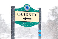 Town Signage in Snow | Quidnet (CH)