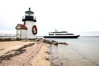 Brant Point Lighthouse with  Wreath and Iyanough_0115  (CH)