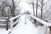 Siasconset Footbridge in Snow (CH)