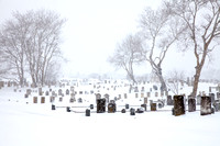 Prospect Hill Cemetery in Snow (CH)
