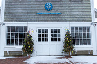 Siasconset Casino Front Door with Christmas Trees (CH)